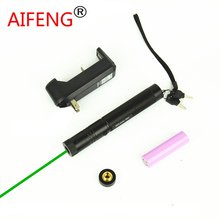 Wholesale AIFENG astronomical  pen green pointer engraving light tactical focus burning green dot laser flashlight combo with battery