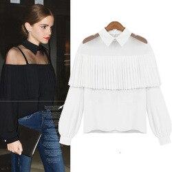 Chiffon blouse blusas women long sleeve white black color font b oversized b font plus size.jpg 250x250