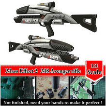 Mass Effect 2 M8 Avenger Rifle 1:1 Scale 3D Paper Model Cosplay Kits, Kid Adults' Guns Weapons Paper Models Handmade Toys