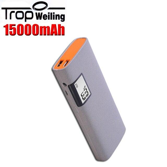 Tropweiling powerbank 18650 мобильный банк питания 15000 мАч poverbank diy банк питания для Всех телефонов