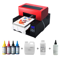 Topparts Automatic A3 T shirt DTG Flatbed printer Textile Printer for Cotton T Shirt Printing machine with textile ink