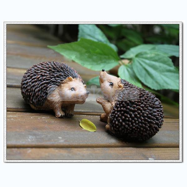 Merveilleux 2pcs Resin Emulation Hedgehog Home Decor