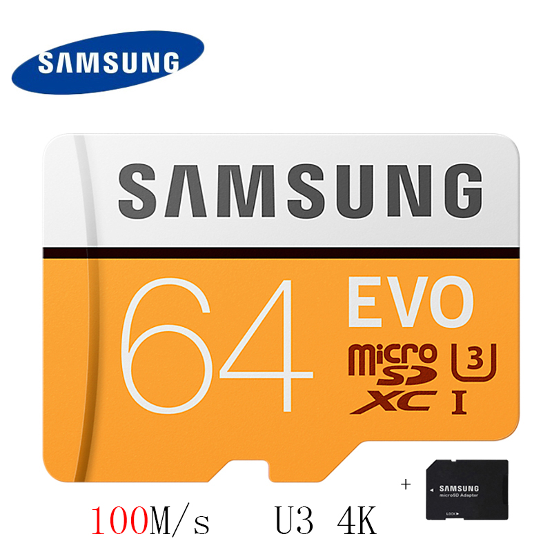 SAMSUNG Microsd Card 16gb 32gb 64gb 128gb 100Mb/s Micro SD Memory Card TF Flash Card for Phone Class10 U3 SDHC SDXC Free Adapter samsung 16gb class uhs i micro sdhc tf flash memory card usb card reader orange