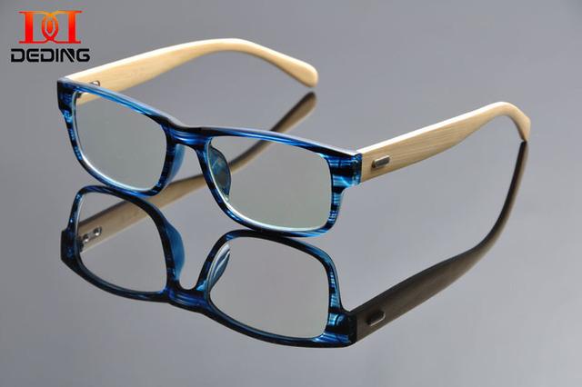 Tr90 acetato frontal del templo de madera marco óptico para mujeres / hombres alta calidad acetato de gafas ópticas marco envío gratis DD0968