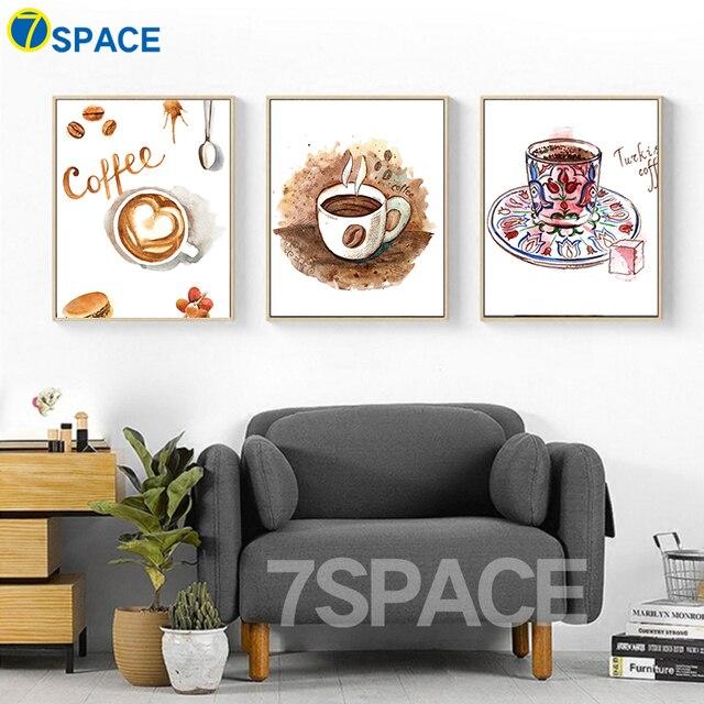 7 Space Aquarell Kaffeetasse Leinwand Malerei Wandbilder Für ...