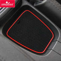 Gate slot pad  For Volkswagen Polo Polo GTI 2011-2017 Dust mats Water Coaster Non-slip mats RED BLUE WHITE