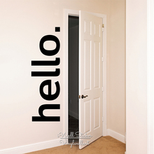 Vinyl Lettering Hello Wall Quotes Decal Door Sticker Modern Decor DIY Removable Cut Q224
