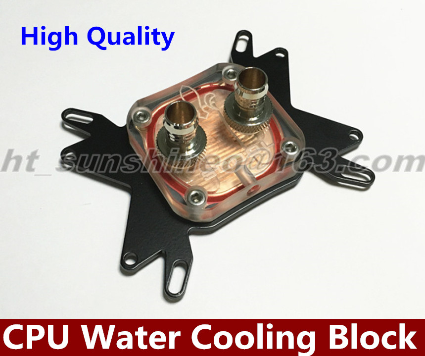 Free shipping   CPU Water Cooling Block Waterblock Liquid Cooler for Intel AMD F-0126 40 80 12mm aluminium water cooling waterblock heatsink block liquid cooler for cpu gpu laser head industrial control cabinet