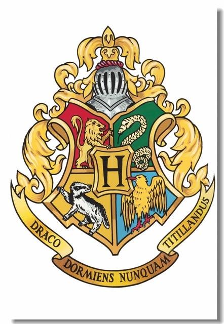 Custom canvas wall painting hogwarts crest wall sticker - Gryffindor crest high resolution ...
