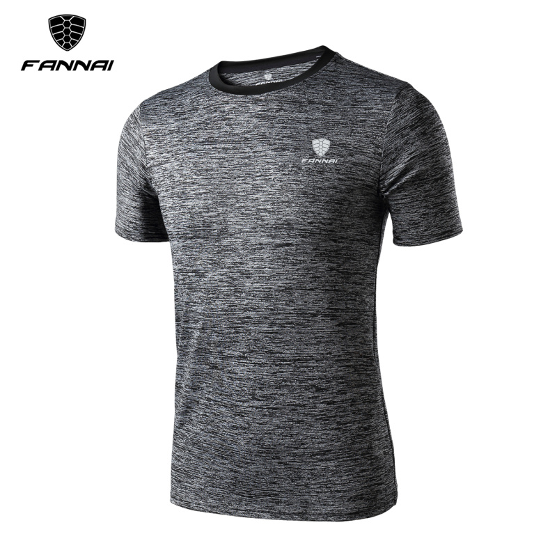 Summer Gym Running T-shirt Sports Men Tights Shirt Basketball Fitness Breathable Quick-Drying Stretch Tops Short Sleeve Mens