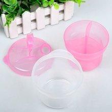 Популярный портативный дозатор молочного порошка для младенцев, контейнер для хранения еды, коробка для кормления