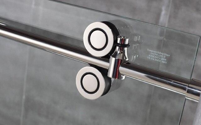 diyhd ftft sin marco puerta corredera de ducha hardware granero inline ducha de