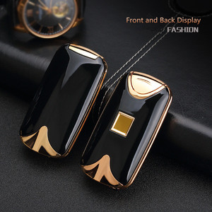 Image 5 - USB Lighter Rechargeable Electronic Lighter Cigarette Fingerprint Plasma Lighter Dual Arc Cigar Palse Personal Signature Custom