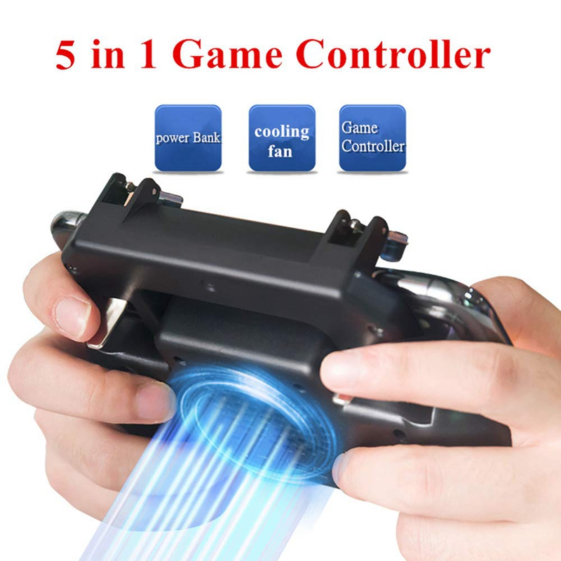 Image 5 - Gaming Grip With Portable Charger Cooling Fan,For Pubg Mobile Controller L1R1 Mobile Game Trigger Joystick For 4 6.5 inch Phon-in Gamepads from Consumer Electronics