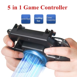 Image 5 - Gaming Grip With Portable Charger Cooling Fan,For Pubg Mobile Controller L1R1 Mobile Game Trigger Joystick For 4 6.5 inch Phon