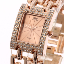купить XG57 New Fashion Women's Wrist Watch Analog Quartz Watches Stainless Steel Band Rose Gold по цене 1855.59 рублей