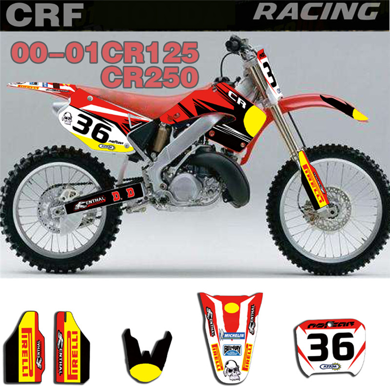 Good quality and cheap honda cr250 stickers in Store Xprice