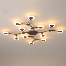 New Creative led ceiling light for living room lights bedroom Metal+Acrylic nordic lamp Modern LED Ceiling Lights lampara techo