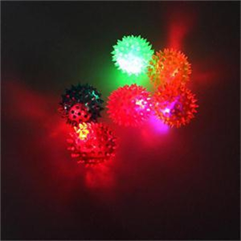 Flashing Toys Ball Light Up Spikey High Bouncing Balls Sensory Hedgehog Ball Gifts For Kids #10