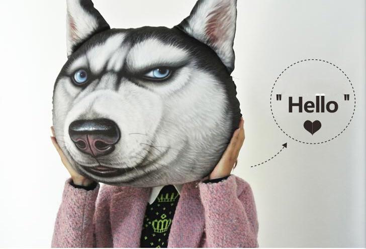 3D Print Doge Kabosu Cushion Plush Cartoon Pillow Husky Akita Car Cushion Creative Dog Shape Nap Pillow Cute Seat Cushion 3 Size
