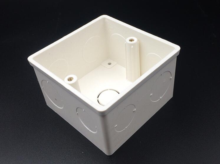 86*86mm Cassette Universal White Wall Mounting Box For Wall Switch And Plastic Enclosure Socket Back Box Outlet 86mm Case