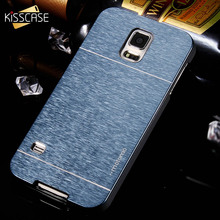 KISSCASE Ultra Thin Dual Layer Hard PC Aluminum Metal Case For Samsung Galaxy S4 S5 S6 S7 Shock Proof Cover For S6 Edge S7 Edge