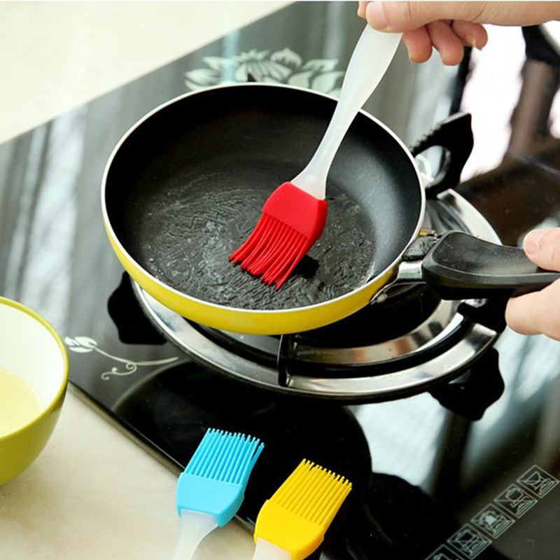 Kitchen Gadgets Silicone BBQ Basting Brush Barbecue Tool Set Bread Pastry Cake Cream Cleaning Smear Brushes Baking Tools