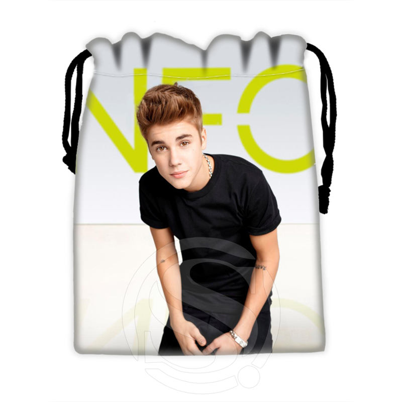 H P738 Custom Justin Bieber 5 drawstring bags for mobile phone tablet PC packaging Gift Bags18X22cm