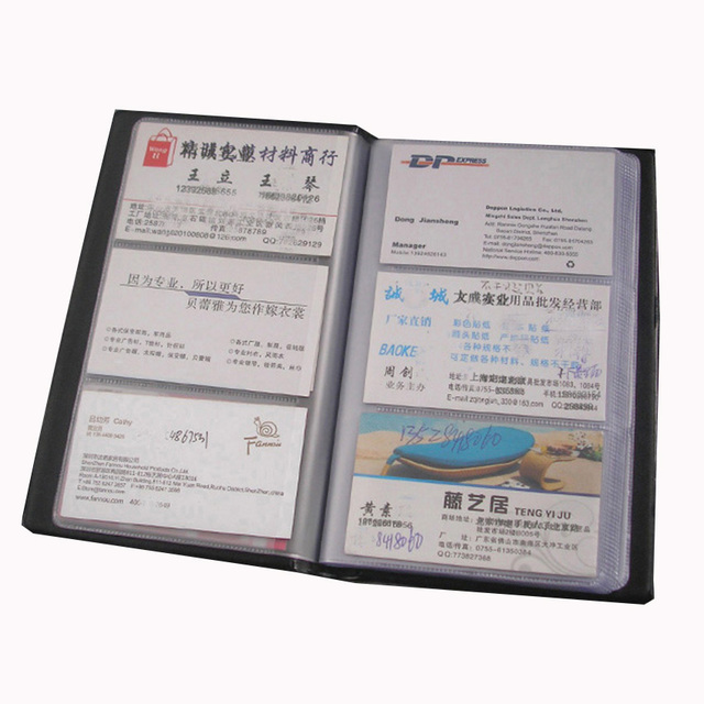 High Quality Pu Leather 120 Cell Compartment Business Card Book