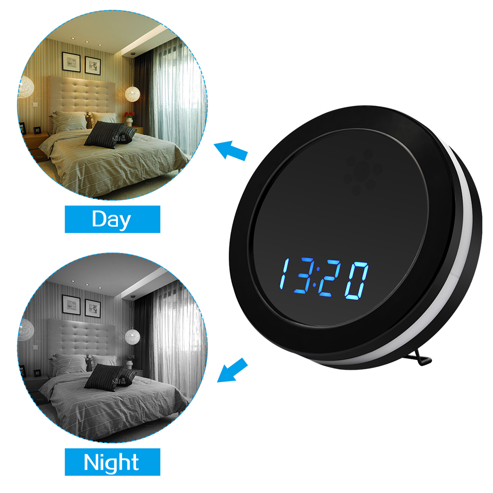 Remote Control Mini Camera Full HD 1080P Clock Camera IR Night Vision Table Clock Camera Motion Detection Mini Camera