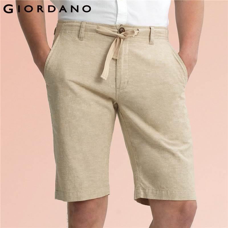 Zapatillas 2018 descuento más bajo Código promocional Giordano Hombres Shorts Bermudas Marca de ropa 2017 Pantalon ...