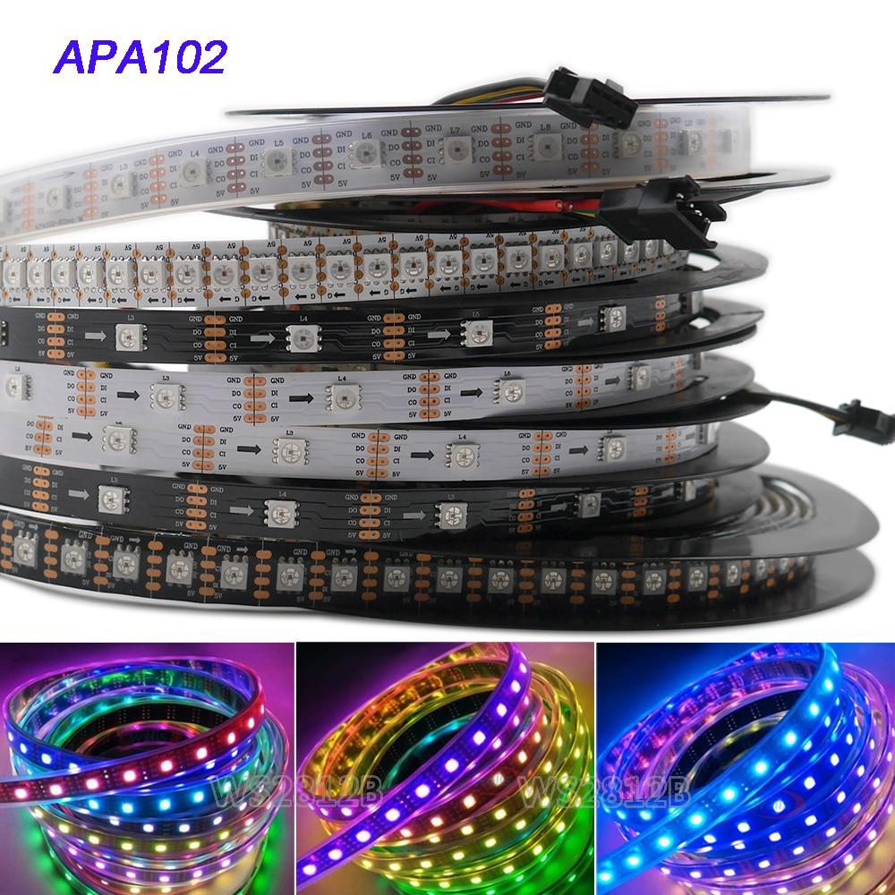APA102 1 mt/5 mt RGB Voll Farbe 30/36/60/96/144 leds/ m SMD5050 IP30/IP65/IP67Pixel LED Streifen SK9822 hintergrundbeleuchtung tv lichter CLK DAT 5 v