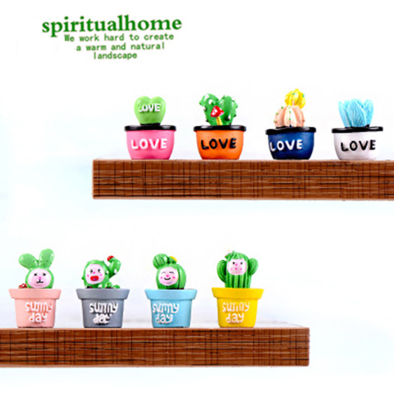 New Crafts Decoration Fairy Garden Flowerpots Cactus Miniature Landscape Stone Resin Crafts Christmas CB4028/o