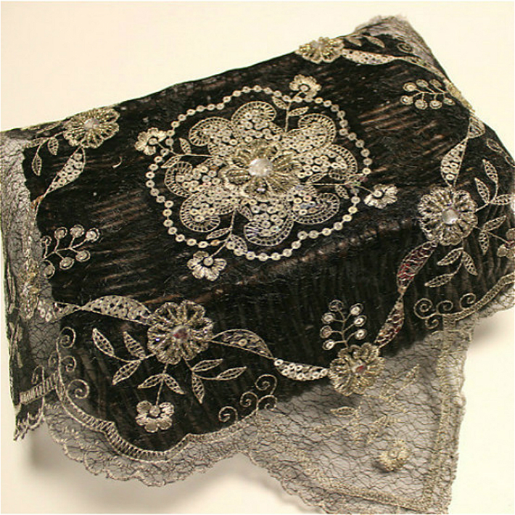 Black Beaded Sequins Embroidered Mesh Lace Fabric Placemat Furniture Dust Cover Towel Coffee Cup Table Mat Fruit Coaster Pad in Mats Pads from Home Garden