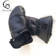 Gants en cuir et peau de mouton pour hommes, pour lextérieur, flexion, épais et chaud, gants de Sport, grande taille