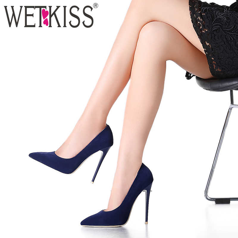 18028b5da9 WETKISS Elegant The Newest Shallow Thin High Heels Pumps Dress Party Office  Lady's Pumps Pointed Toe