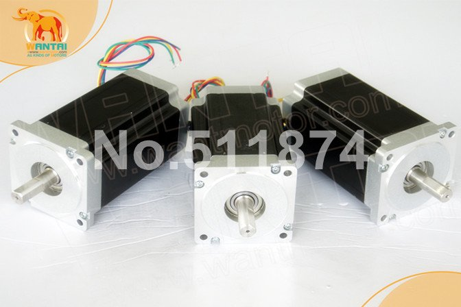 Best Sell! CNC Wantai 3PCS Nema34 Stepper Motor WT86STH118-6004A single shaft 1232oz-in 5.6A 118mm USA CA UK DE JP AU Free suck uk
