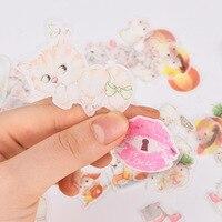 20 Pack Lot Scrapbooking Stickers Cat Hamsters Kawaii Planner Fairy Tale Stickers Cute Korean Stationery