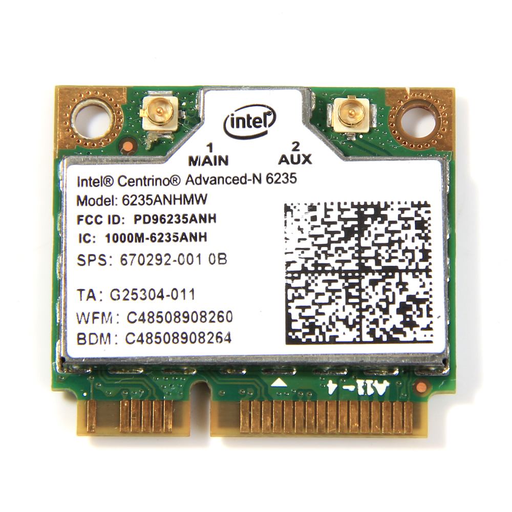 Dual Band 300Mbps Wireless Bluetooth 4.0 For Intel Centrino Advanced-N 6235 6235ANHMW Half Mini PCI-E Wifi Card 802.11agn