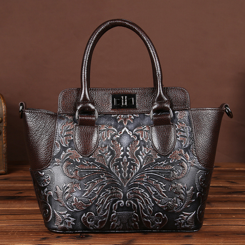 YISHEN Genuine Cow Leather Women Handbag Vintage Messenger Bag Shoulder Bags Female Top-handle Totes Fashion Shopping Bag LS8816 100% genuine leather women bags luxury serpentine real leather women handbag new fashion messenger shoulder bag female totes 3