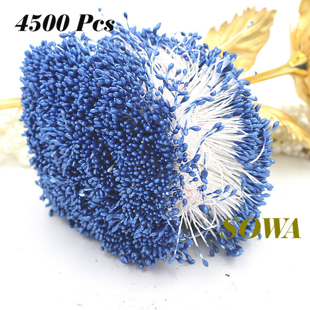 Free Shipping New 4500pcs/Lot 1mm Light Blue Color Flower Stamen Pistil Cake Decoration Craft DIY Wedding Decoration