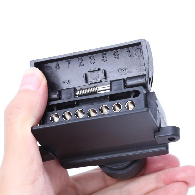 Tirol 7 Pin Runde ZU 4 Pin Flach Anhänger Adapter Trailer licht ...