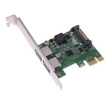 2 Порта USB3.0 Карт Расширения Контроллер Карты Адаптер Hub 5 ГБ/сек. для PCI-E x1/x4/x8/x16 для Win7/Win8/Win8.1/Win10