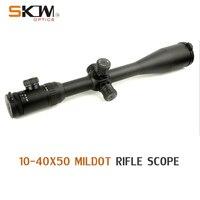 SKWoptics 10 40x50 Side Focus 30 tube rifle scope Long Range .308 .338 Cal Illuminated Hunting Target High quality reticle