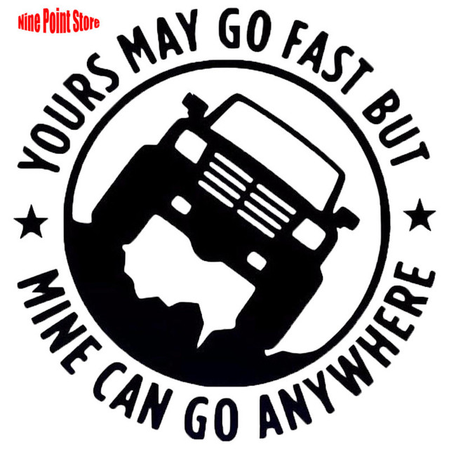 US $2 0 |W010# 13 5cm*13 5cm Off road vehicle sign Car Sticker Reflective  Silhouette Graphic Vinyl Accessories Decor-in Wall Stickers from Home &