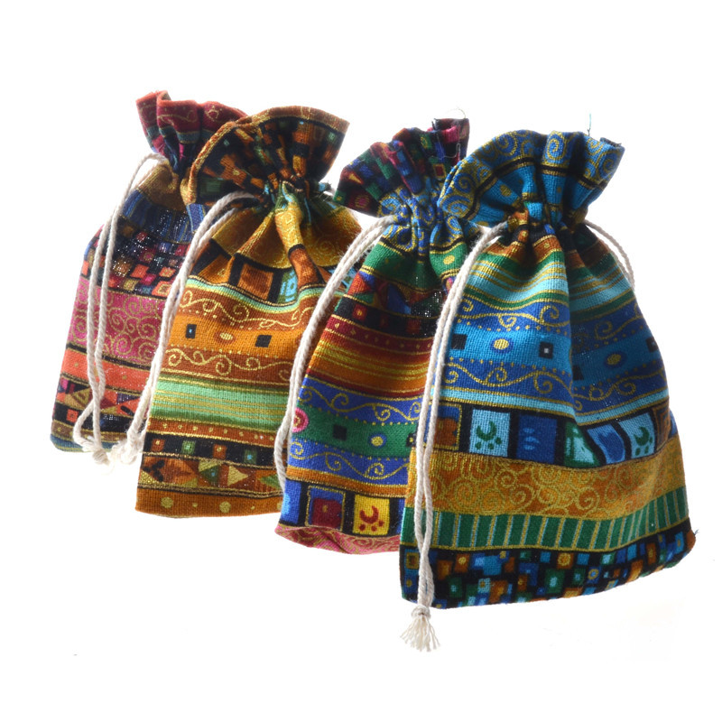 10x14 13x18 15x20cm Cotton Linen Drawstring Gifts Bags Candy Gift Beads Jewelry Bag Wedding Paarty Favors Pouches For Storage in Jewelry Packaging Display from Jewelry Accessories