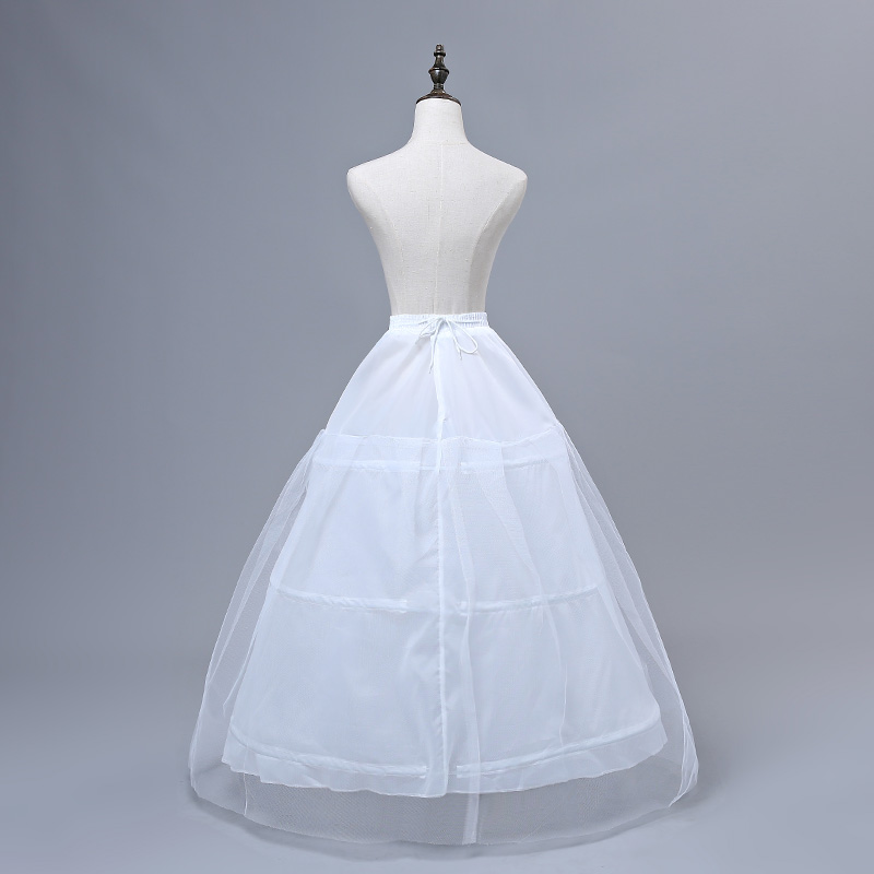 JIERUIZE In Stock Free shipping High Quality White Petticoats 3 Hoops Wedding Accessories For Wedding Dresses Bridal Gowns