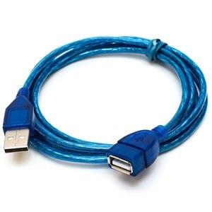 Image 1 - 1/1.5/2/3M USB 2.0 تمديد كابل يو إس بي 2.0 الذكور إلى USB 2.0 الإناث كابل الأزرق