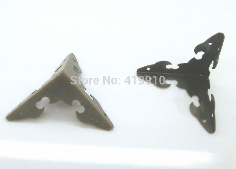 Free Shipping-50pcs Box Corner Foot Antique Bronze Corner Protection 29mm x 29mm(1 1/8 x1 1/8), J1738 free shipping 50pcs 6n137 el6n137 dip 8 100