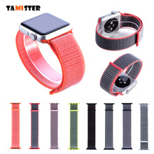 TAMISTER Nylon Watch Band For Apple Watch Sport Velcro Easy Adjustment Watch For iWatch Series 1/2/3/4 Bracelet Accessories